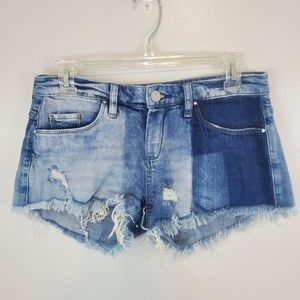 Blank NYC Distressed Muticolor Cut Off Shorts 25.